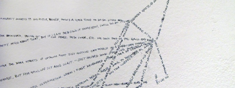 Detail of handwritten text on wall